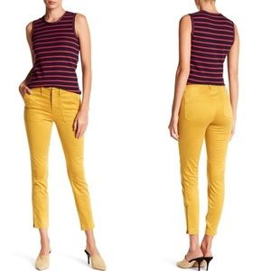 J crew ankle zipper stretch twill cargo crop pants